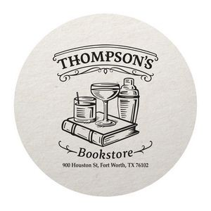 "45 Pt. Natural 3.5"" Round - Pulpboard Coasters - The 500 Line"